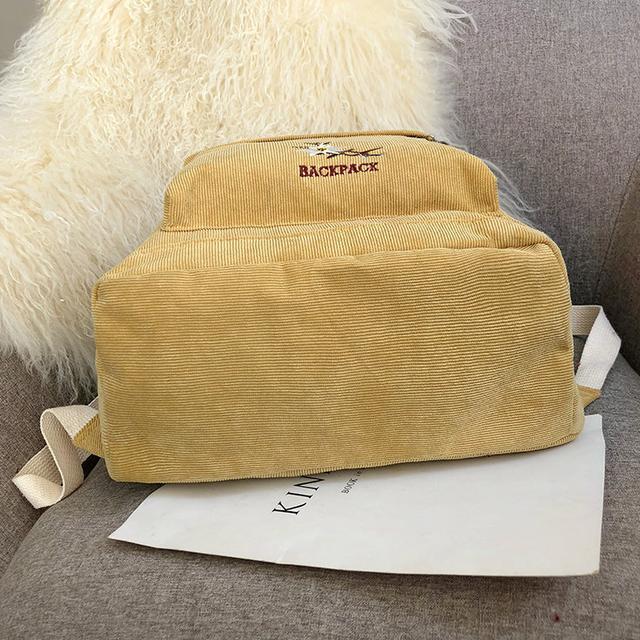 Рюкзак вельветовий