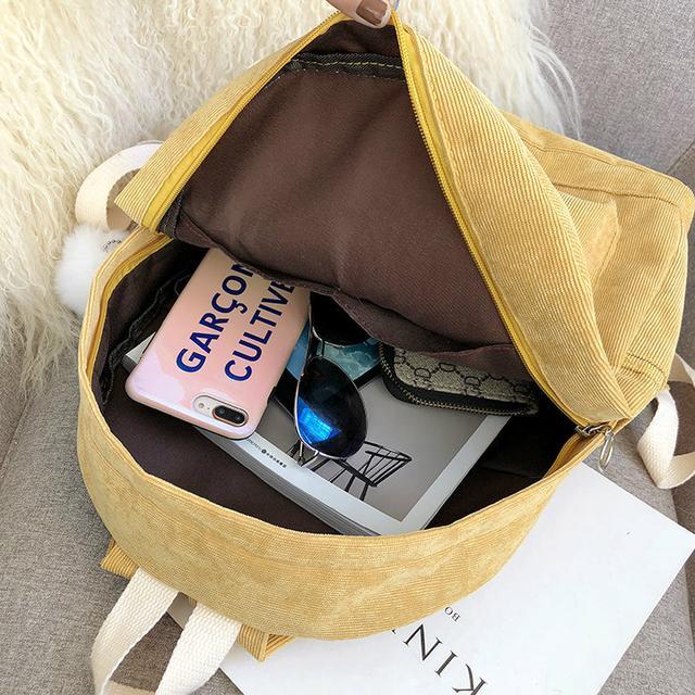 Рюкзак вельветовий міський
