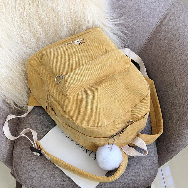 Вельветовий рюкзак