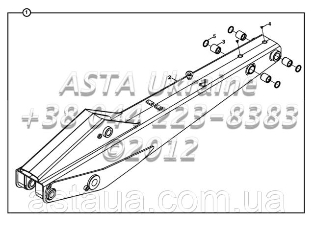 Крепления стрелы B4-5-2-OP1 на Hidromek 102B