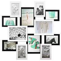 Мультирамка «Путешествие» черно-белая (12 фото)