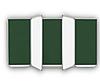 Доска школьная 5-поверхностная (двухстворчатая) ТСО, фото 3