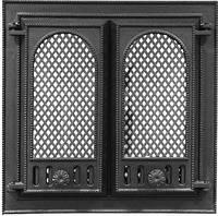 Каминные дверцы со стеклом Pisla HTT 116 (500x500)