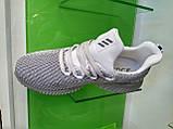 Мужские кроссовки Adidas Alpha Bounce gray white, фото 3