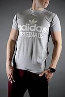 Футболка мужская летняя Adidas, цвет серый