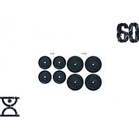 Набор блинов 60 кг (4x5 и 4x10) на гриф 25,30,50 мм