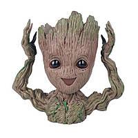 """Емкость для цветов и канцелярии в стиле """"Грут"""" Groot"""