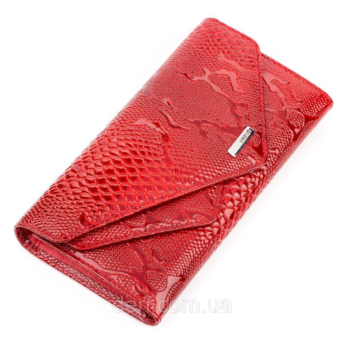 Кошелек женский KARYA 17189 кожаный Красный, Красный