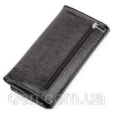 Кошелек женский KARYA 17195 кожаный Черный, Черный, фото 2