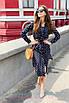 Легкое платье-рубашка в горошек длины ниже колен, фото 2