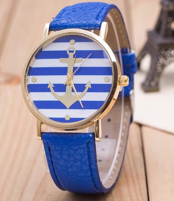 Годинник Женева Geneva Якір синій ремінець