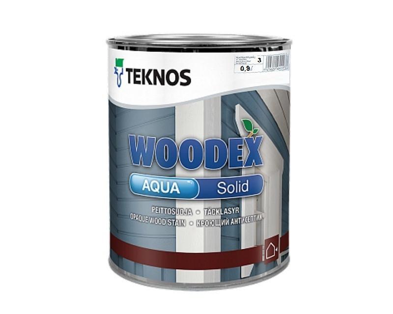 Водорозчинний покривний антисептик для дерева Teknos Woodex Aqua Solid 0.9л