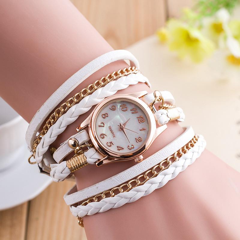Годинник-браслет довгі, наматывающиеся на руку Білі 146-3