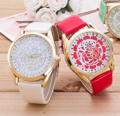 Часы женские Geneva Женева Кружевная Роза нюдовые 068-02