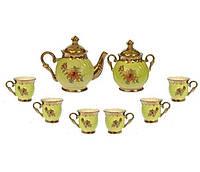 """Чайний набір """"Орфей"""" салатовий, 8 предметів, 0,5 л чайник, 0,5 л цукорниця, 0,2 л чашка"""