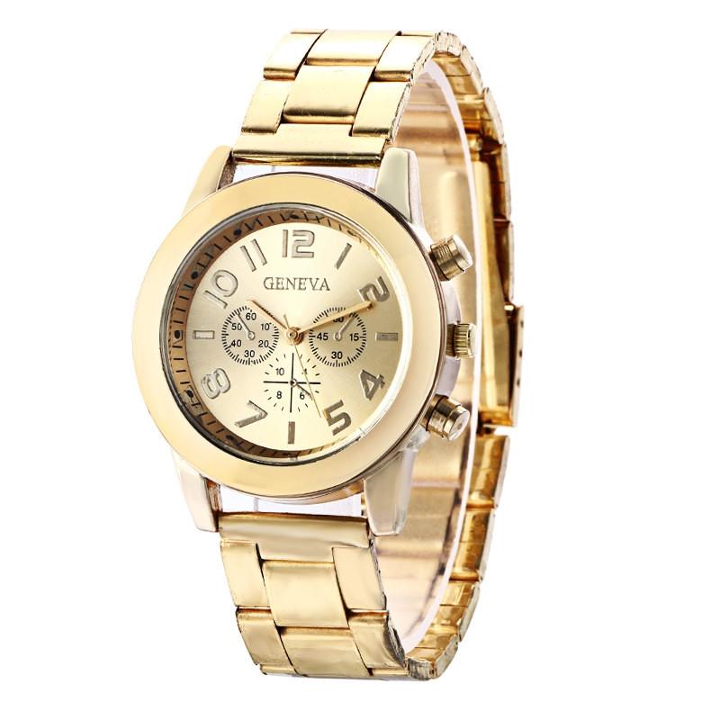 Часы женские Geneva золотые 118