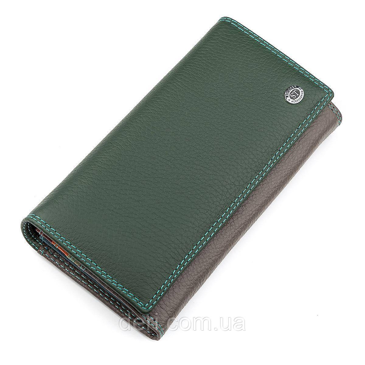 Кошелек женский ST Leather 18300 (SB634) кожаный Зеленый, Зеленый