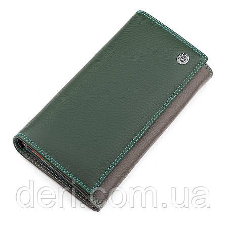 Кошелек женский ST Leather 18300 (SB634) кожаный Зеленый, Зеленый, фото 2