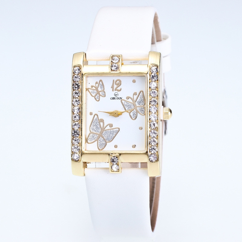 Часы женские Бабочки белые 126-1