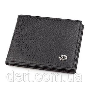 Мужской кошелек ST Leather 18319 (ST160) кожаный Черный, Черный, фото 2