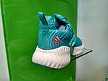Женские кроссовки Adidas Alpha Bounce Blue, фото 4