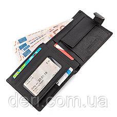 Мужской кошелек ST Leather 18328 (ST137) итальянская кожа Черный, Черный, фото 3