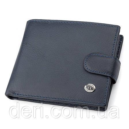 Мужской кошелек ST Leather 18329 (ST137) кожа Синий, Синий, фото 2