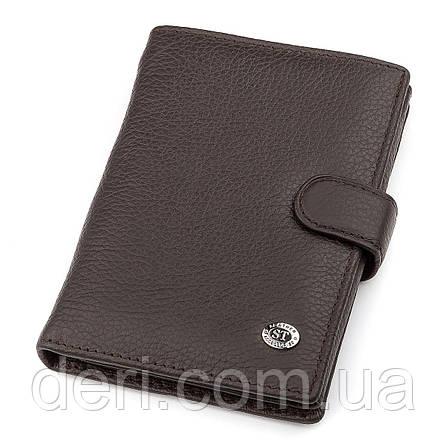 Мужской кошелек ST Leather  вертикальный Коричневый, Коричневый, фото 2