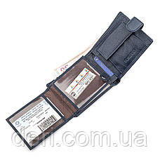 Мужской кошелек ST Leather 18333 (ST102) удобный Синий, Синий, фото 2
