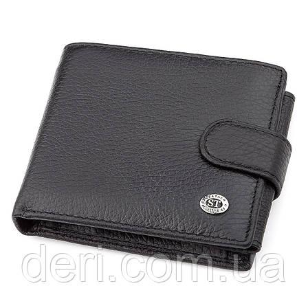 Мужской кошелек ST Leather натуральная кожа Черный, Черный, фото 2