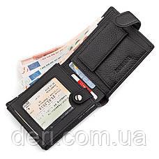 Мужской кошелек ST Leather натуральная кожа Черный, Черный, фото 3