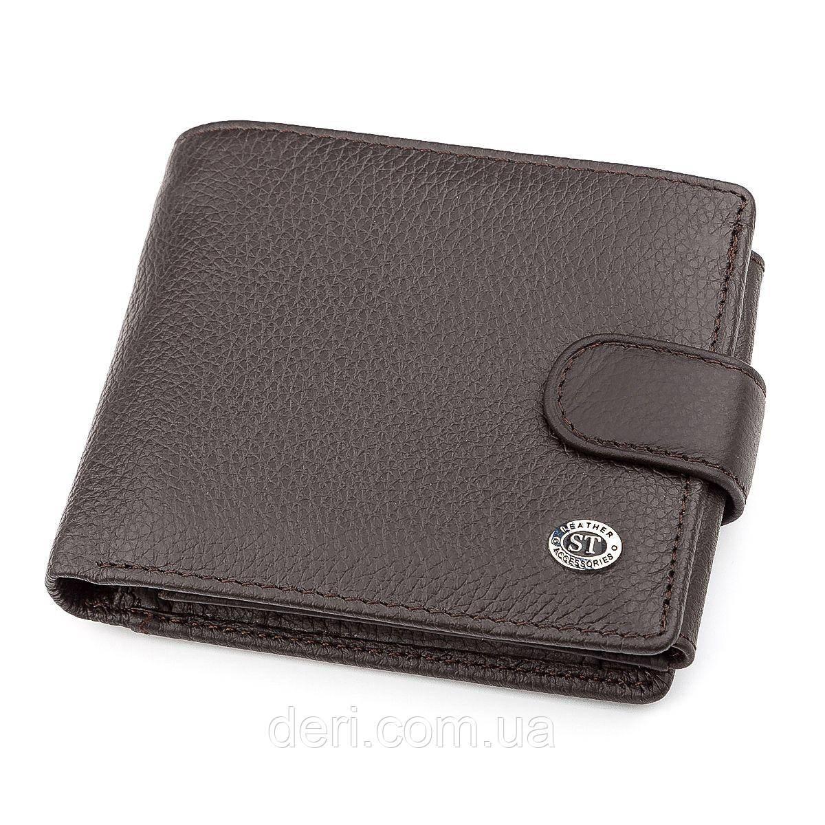 Мужской кошелек ST Leather 18335 (ST102) Коричневый, Коричневый
