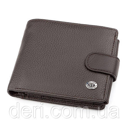 Мужской кошелек ST Leather 18335 (ST102) Коричневый, Коричневый, фото 2
