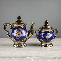 """Чайный сервиз """"Валтасар"""" кобальт, 8 предметов, чайник 0,8 л, сахарница 0,5 л, чашка 0,25 л, фото 1"""