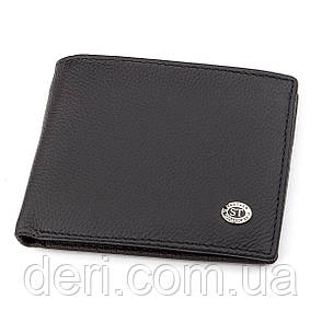 Мужской кошелек натуральная кожа, Черный, фото 2