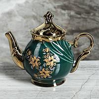 """Чайний сервіз """"Орфей"""" 8 предметів зелений чайник, 0,5 л чайник, 0,5 л цукорниця, 0,2 л чашка, фото 1"""