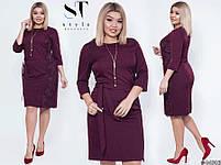 Стильне лаконічне плаття для повсякденних образів з 50 по 56 розмір, фото 7