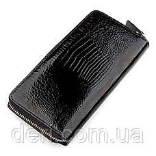 Женский кошелек  натуральная кожа Черный, фото 2