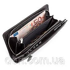 Мужской кошелек  натуральная кожа, Черный, фото 3