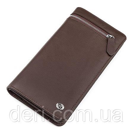 Мужской кошелек ST Leather стильный , Коричневый, фото 2