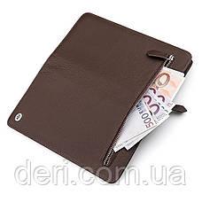 Мужской кошелек ST Leather стильный , Коричневый, фото 3