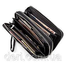 Мужской кошелек ST Leather 18451 (ST127) натуральная кожа Черный, Черный, фото 3