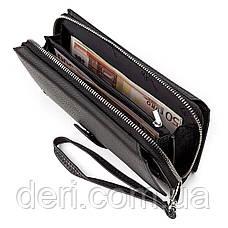 Мужской кошелек ST стильный , Черный, фото 3