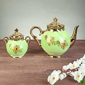 """Чайний сервіз """"Орфей"""", 9 предметів, салатовий, 0,5 л чайник, 0,5 л цукорниця, 0,2 л чашка"""