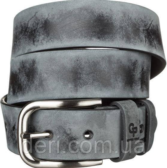 Ремень мужской Grande Pelle 11062 под джинсы Серый, Серый