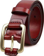 Ремень мужской Vintage 14525 Коричневый, Коричневый, фото 2