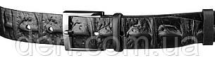 Ремень мужской SHVIGEL 15270 кожаный Черный, Черный, фото 2