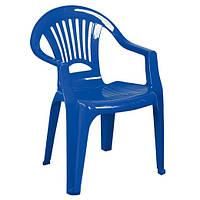 Стілець пластиковий «Промінь», синій
