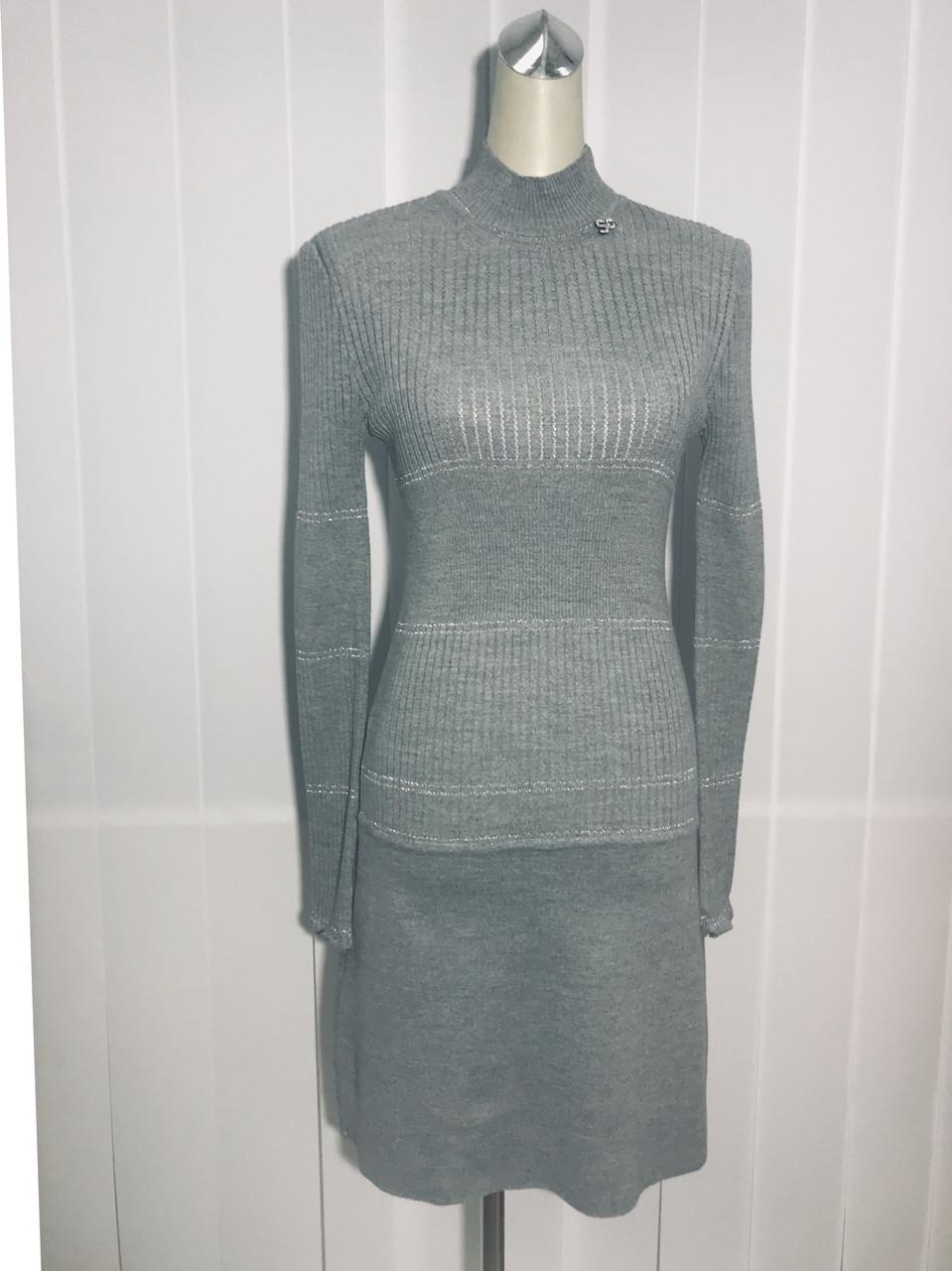 Платье Soсieta трикотажное серое