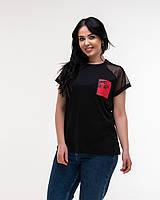 Женская модная футболка - реглан  НА620, фото 1
